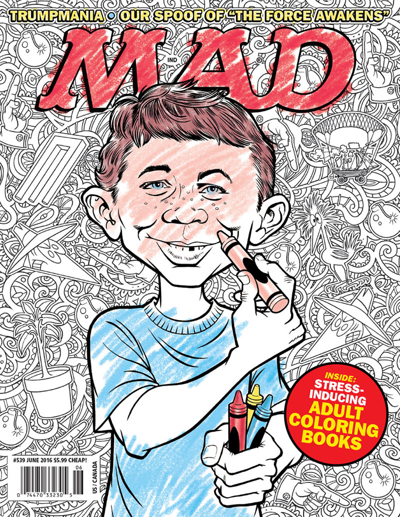 The cover of MAD Issue 539 by Tom Richmond