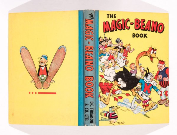 Big Eggo and Koko win three-legged race on the cover of this 1943 Magic-Beano Book from the Brenda Butler archive.