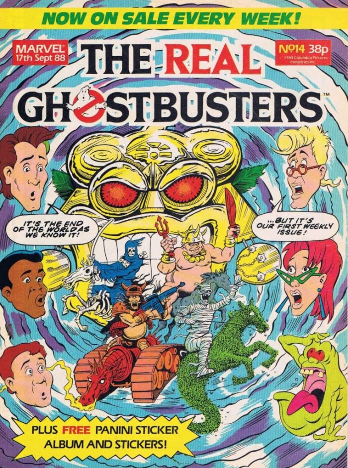 The first weekly issue of The Real Ghostbusters, cover by Andy Lanning