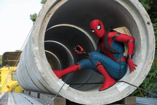 om Holland is Spider-Man in Columbia Pictures' Spider-Man - Homecoming