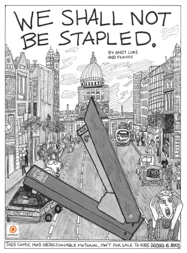 We Shall Not Be Stapled - Cover