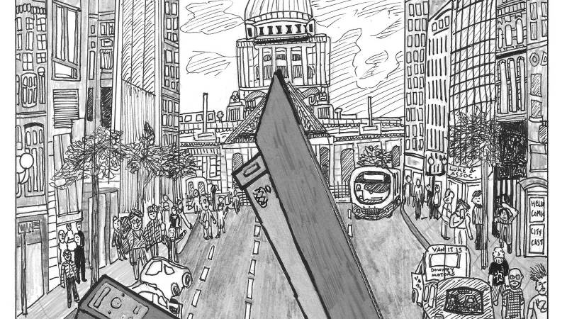 "Andy Luke's new comic ""We Shall Not Be Stapled"" launches this week in Belfast"