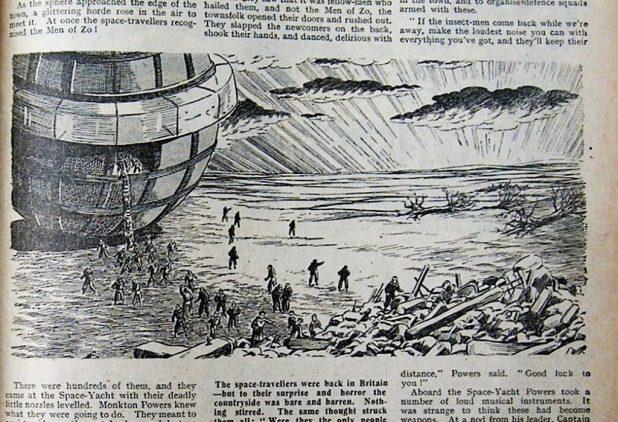 Monkton Powers lands on an alien world (Hotspur)