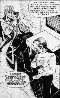 "A panel from ""The Man in the Ion Mask"" for the DWM U.N.I.T. Special, art by Brian Williamson"