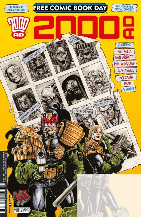 2000AD Free Comic Book Day 2017 - Cover