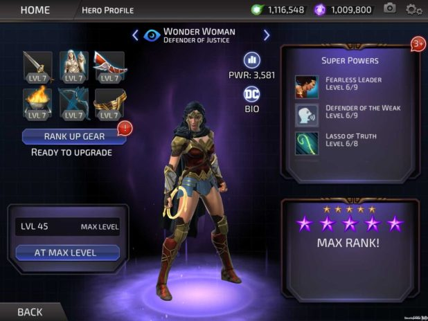DC Legends - Wonder Woman Character Data