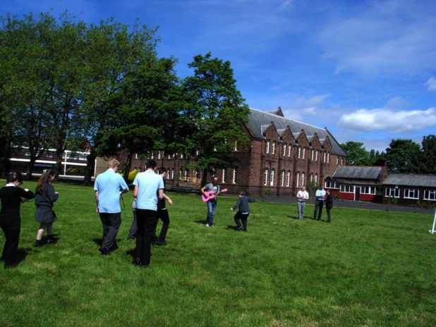 Fun at St Vincent's as the Fab 4000 project comes together ahead of the show. Photo courtesy Tim Quinn
