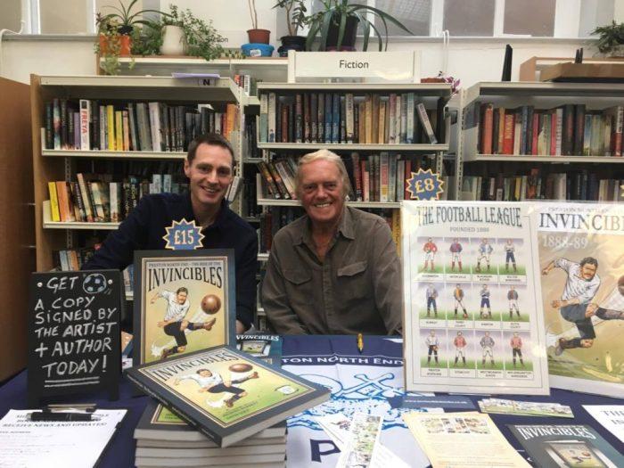 Lancaster Comics Day guest Michael Barrett and artist David Sque. Photo: David Chandler