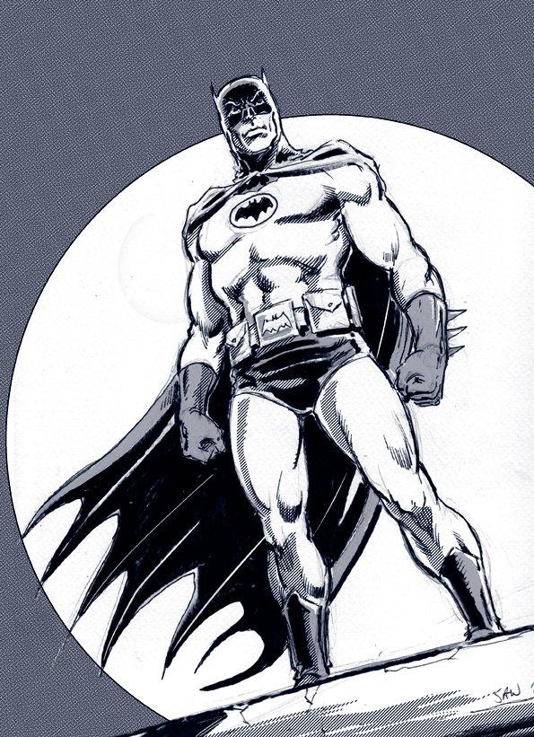 Adam West as Batman by Simon Williams