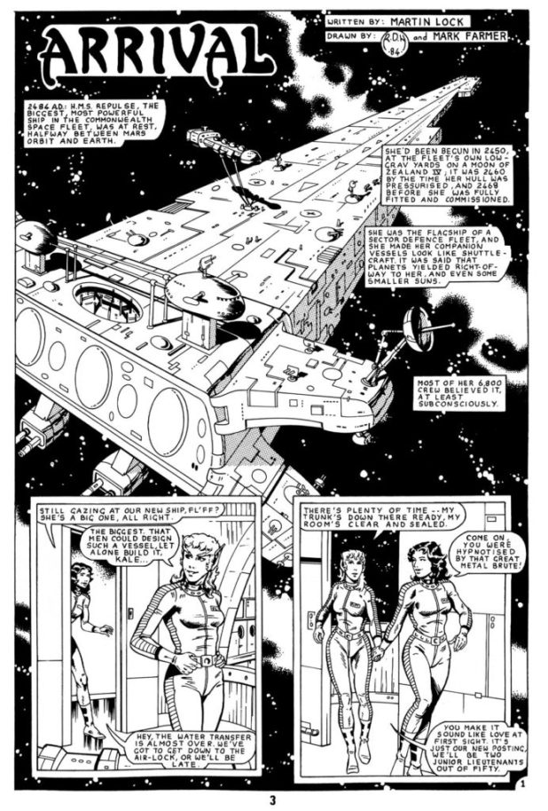 Art from Harrier Comics Swiftsure #1