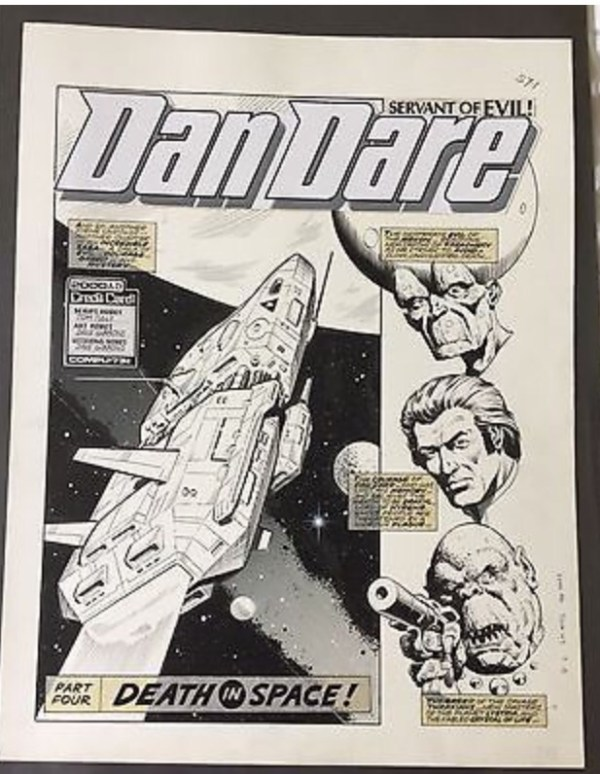 Dan Dare art from 2000AD by Dave Gibbons