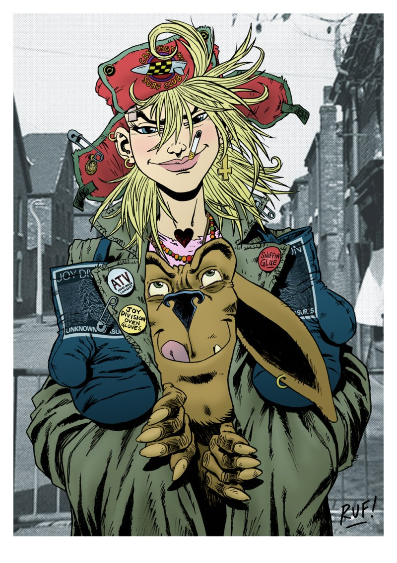 Tank Girl art by Rufus Dayglo