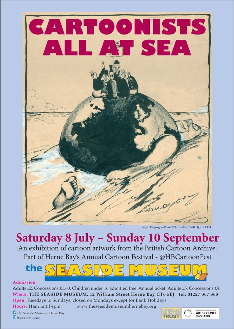 Cartoonists all at Sea Exhibition - Herne Bay 2017