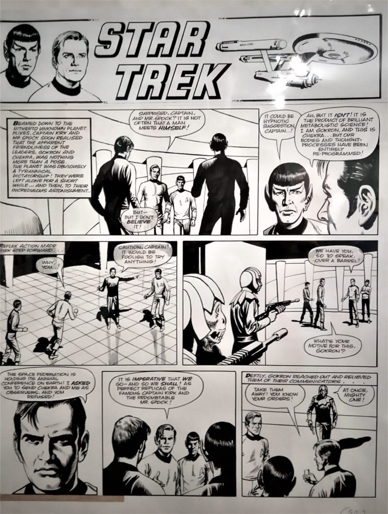 Star Trek art by John Stokes, for Valiant and TV21, published in the 1970s