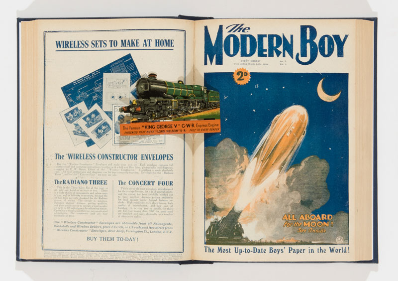 Modern Boy (1928) 1-20 In a bound volume with Issue 1 free gift King George V GWR express engine in coloured tinplate.