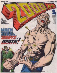2000AD Prog 67 - A Mach Zero cover by Brian Bolland