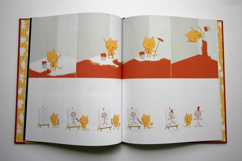 A spread from A Cat Named Tim and Other Stories