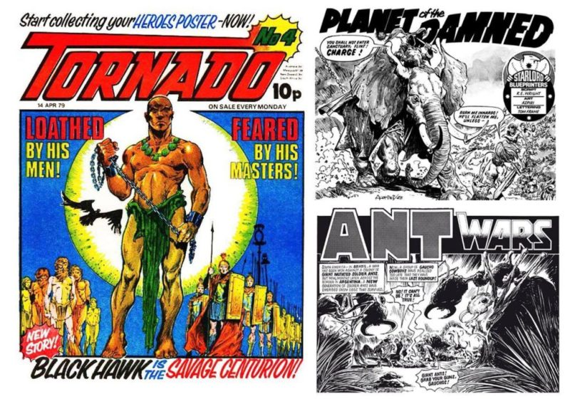 "Alphonso Azpiri's less ""risque"" work - for British comics Tornado, ""Planet of the Damned"" for Starlord - and ""Ant Wars"" for 2000AD"