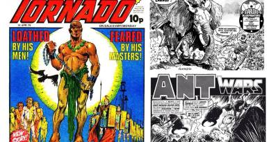 """Alphonso Azpiri's less """"risque"""" work - for British comics Tornado, """"Planet of the Damned"""" for Starlord - and """"Ant Wars"""" for 2000AD"""