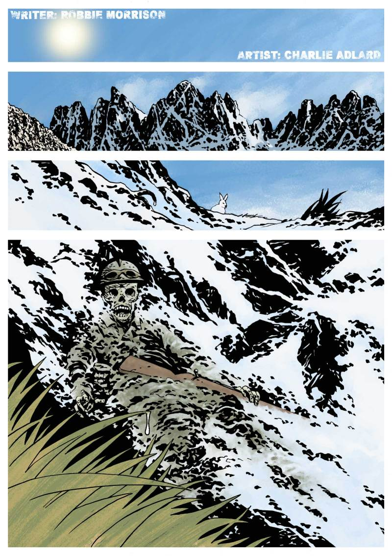 """The opening page page from """"Without a Trace"""" by Robbie Morrison and Charlie Adlard"""