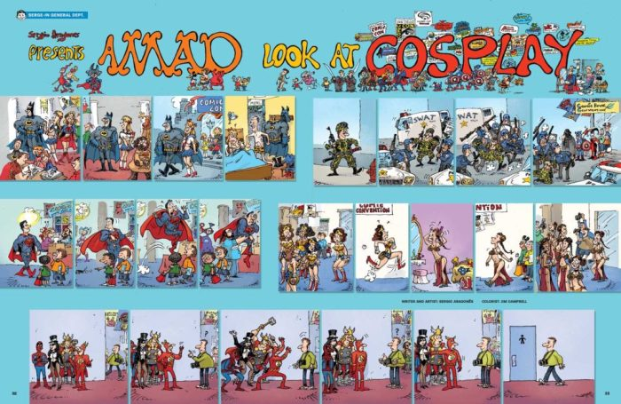 A MAD look at Cosplay by Sergio Aragonés © DC Comics