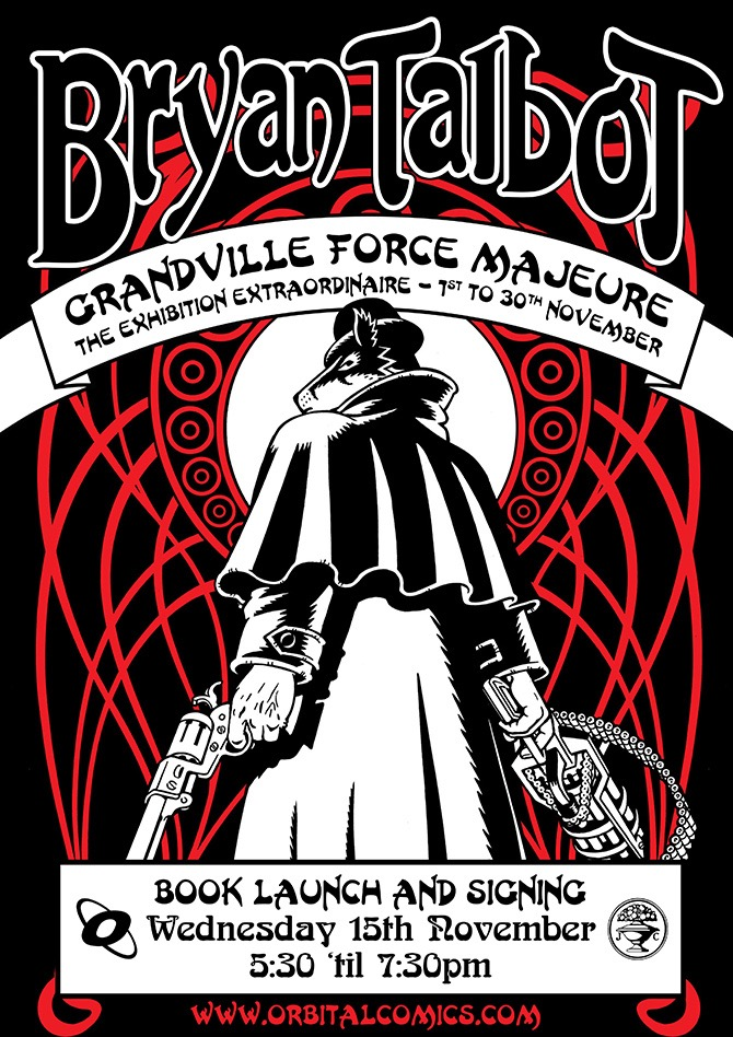 Grandville: Force Majeure - Orbital Comics Signing Poster