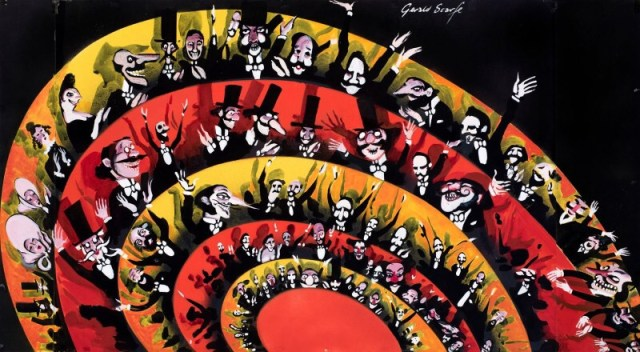 English National Opera - Orpheus in the Underworld - publicity poster by Gerald Scarfe