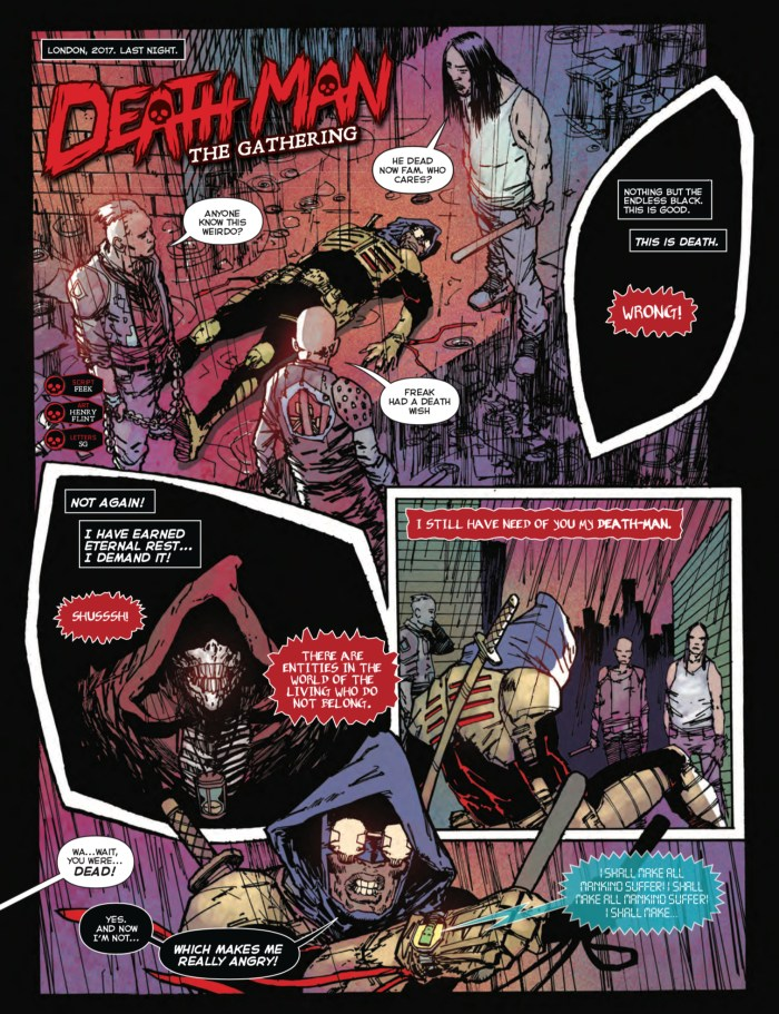 """Death-Man: The Gathering"""" by Feek and Henry Flint"""
