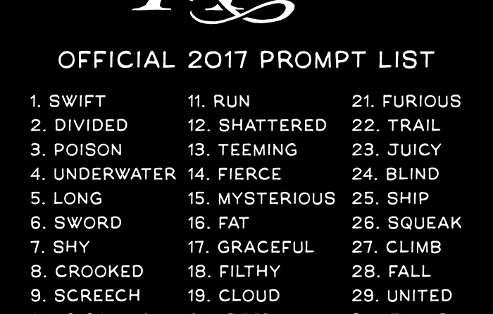 Inktober 2017 Prompt List