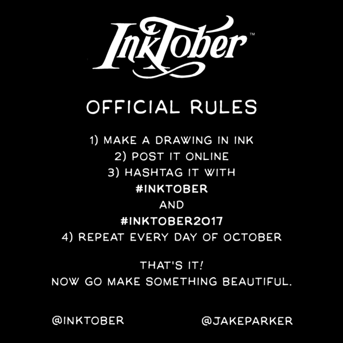 Inktober Official Rules