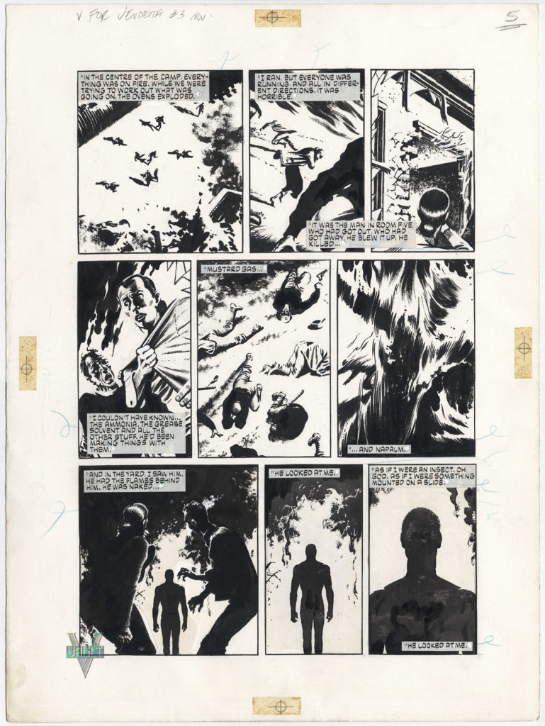 Original art for V for Vendetta by David Lloyd