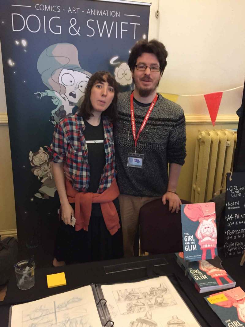Comics newcomers Doig & Swift has attracted the eye of publishers. Photo: John Freeman