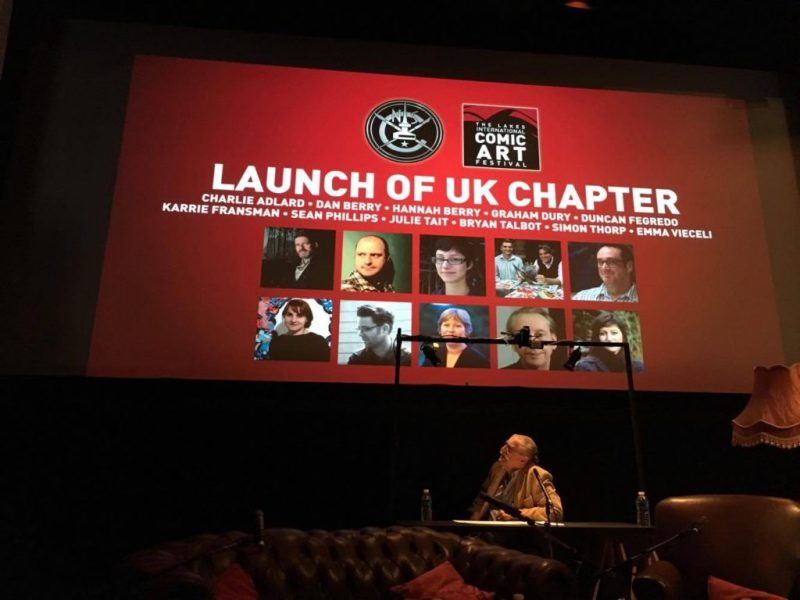 The UK Chapter of the National Cartoonists Society was launched at the Lakes International Comic Arts Festival. More information soon. Photo: Dean Simons