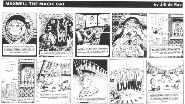 Maxwell the Magic Cat was both written and drawn by Alan and appeared in the Northants Post. © Alan Moore