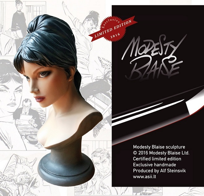 Modesty Blaise Statue - ComicArtDK 2016