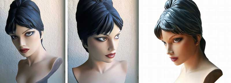 WebFind: a Modesty Blaise statue based on Jim Holdaway's original look
