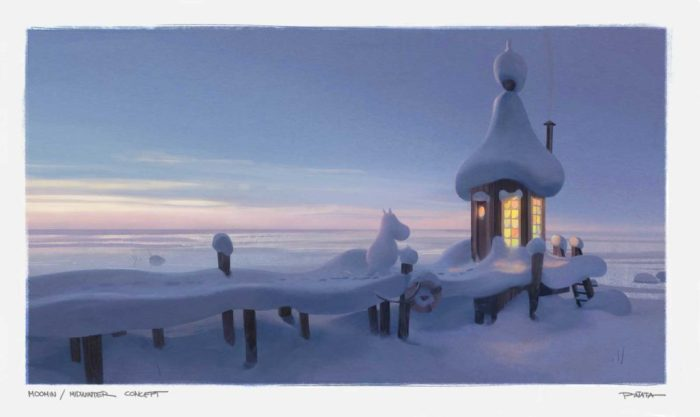 MoominValley Concept Art - Midwinter. © Moomin Characters