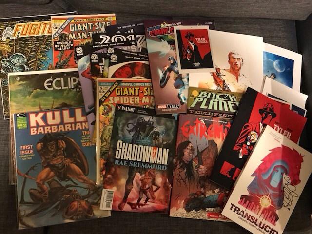 New York Comics Con Day 1 - Mandatory haul photograph!