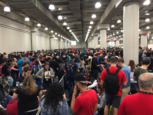 New York Comics Con Day 1 - Queue
