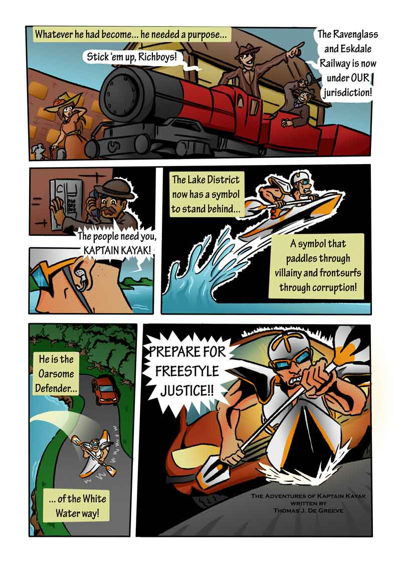 The Adventures of Kaptain Kayak by Thomas J. De Greeve Page 2