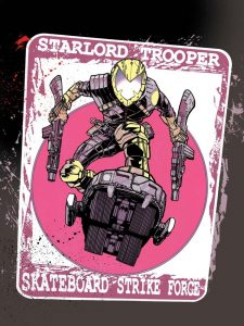The limited edition 2000AD Prog 2061 Starlord Trooper print by Henry Flint