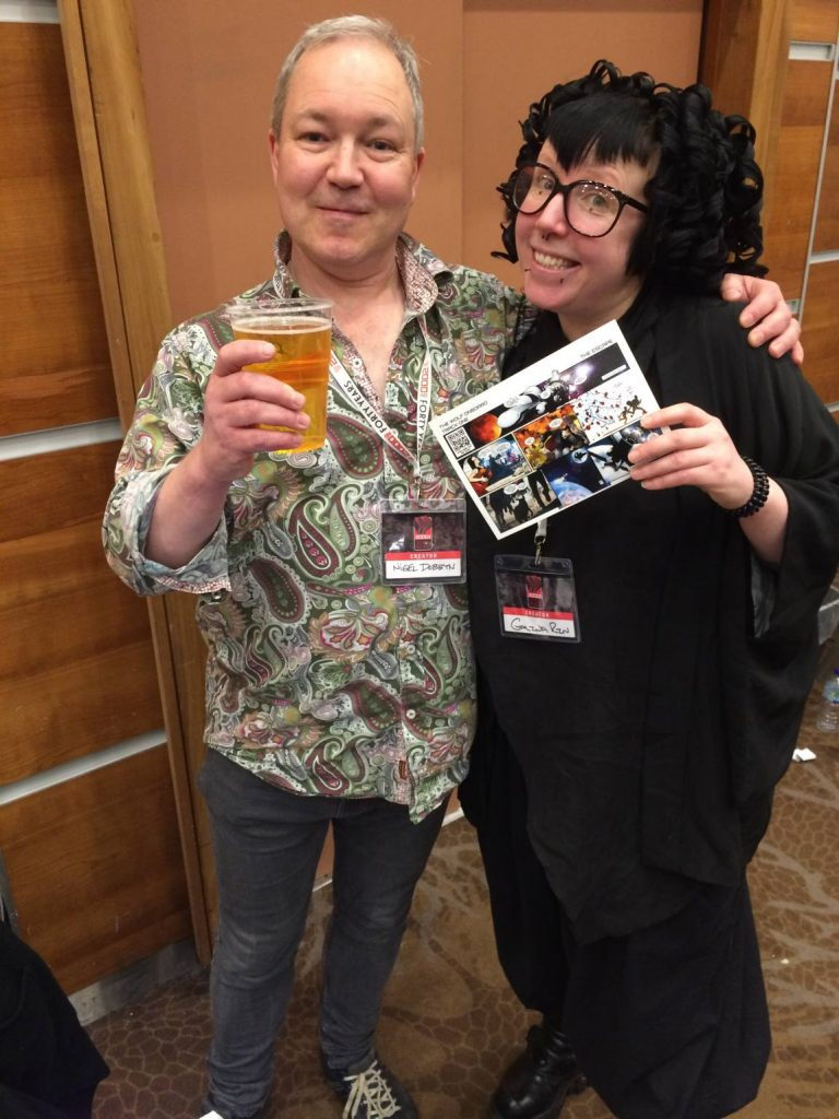 Galina Rin and Nigel Dobbyn at the 2000AD 40th Anniversary event earlier this year. Photo: James Bacon