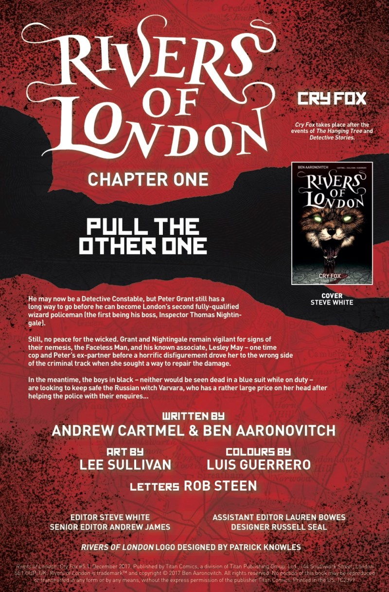 Rivers of London - Cry Fox #1 - Credits