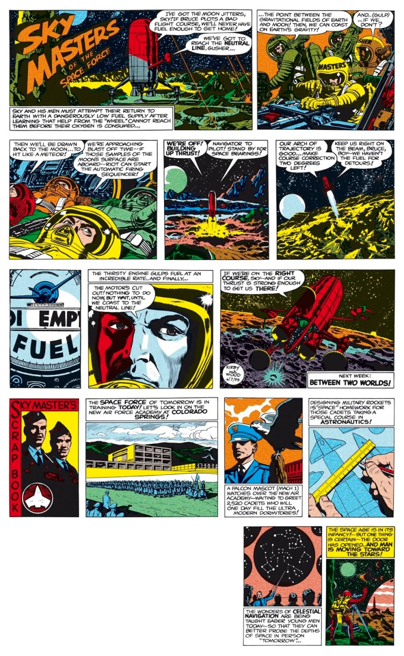 Much admired, the original of this Sunday Sky Masters strip is owned by artist John Byrne