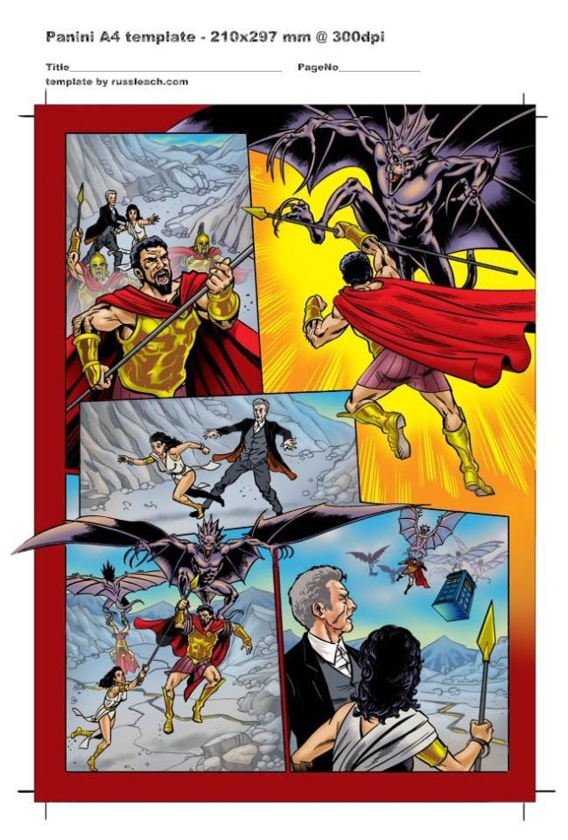 Doctor Who Adventures - Unpublished Twelfth Doctor Strip 5 Colour