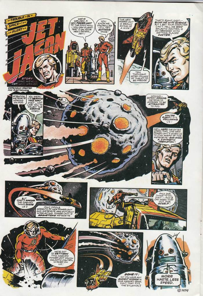 "The first episode of ""Jet Jason"" for Fleetwings - July 1979 edition"