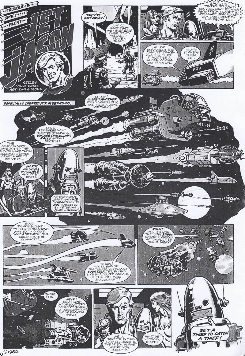 """A black an white version of one of the final """"Jet Jason"""" episodes, featured in the Summer 1982 edition of British Airways Fleetwings magazine"""