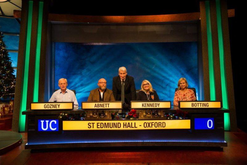 Dan Abnett on University Challenge Christmas 2017 Episode 5 of 10. Image: BBC