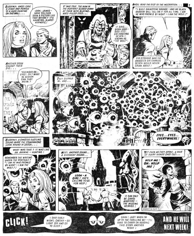 Cheeky Weekly Issue one - James Bold - Fangs of Fear Page Two