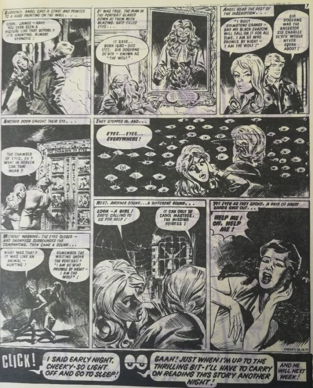 Cheeky Weekly Issue one dummy - James Bold - Fangs of Fear Page Two